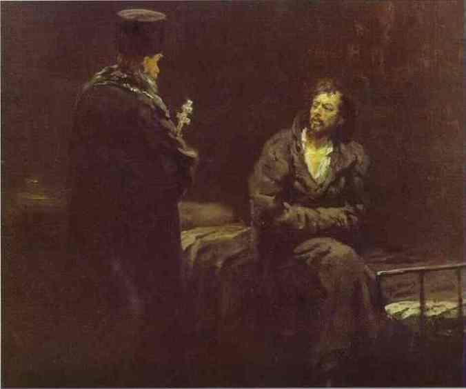 Refusal of a confession_Repin