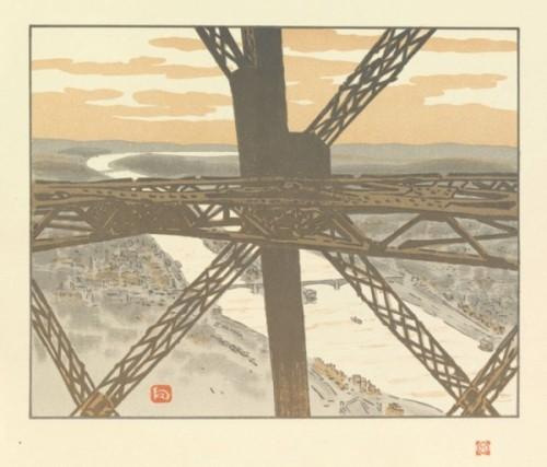 Henri Rivière, Dans la tour, plaat 25, Eiffeltoren
