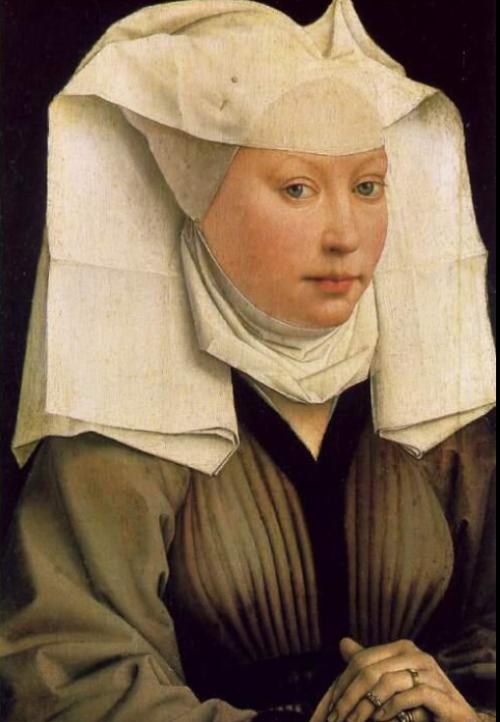 Rogier van der Weyden, Portret van een jonge vrouw, ca. 1430