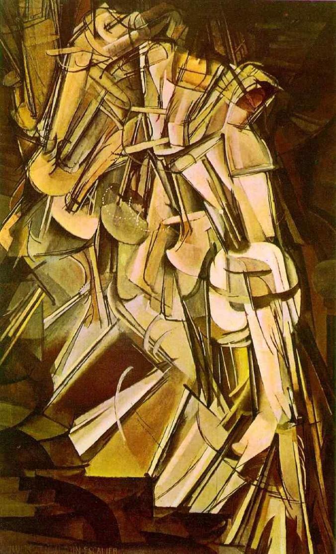Marcel Duchamp, Naakt daalt trap af no.2, 1912