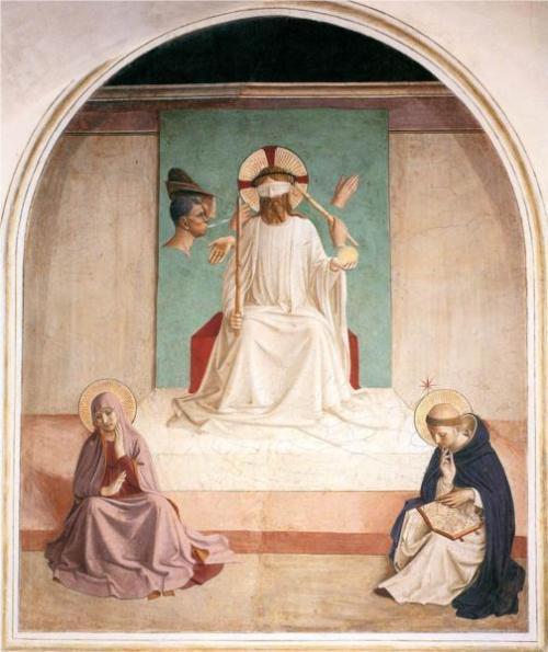 Fra Angelico, De Bespotting van Christus, 1440-41