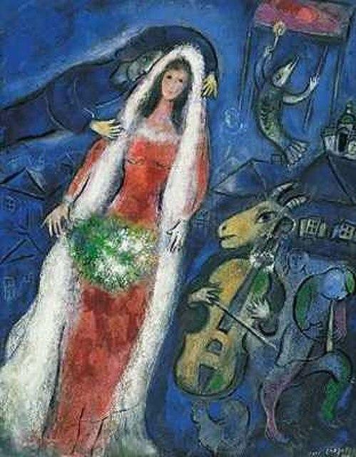 Chagall-La-Mariee-1927