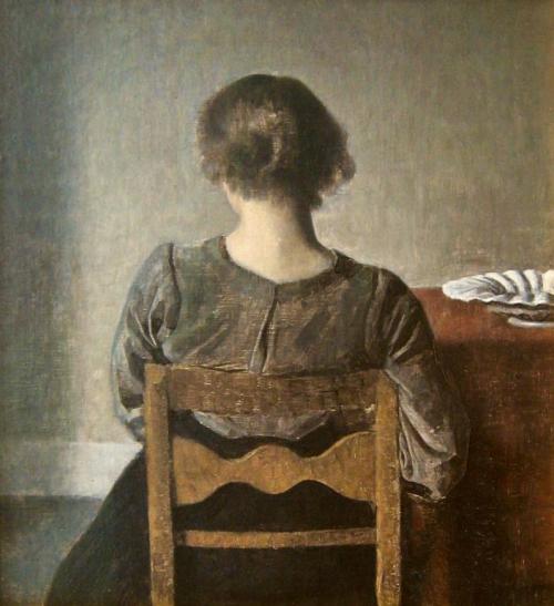 Wilhelm Hammershøi, Hvile (Rust), 1905, Musée d'Orsay Parijs