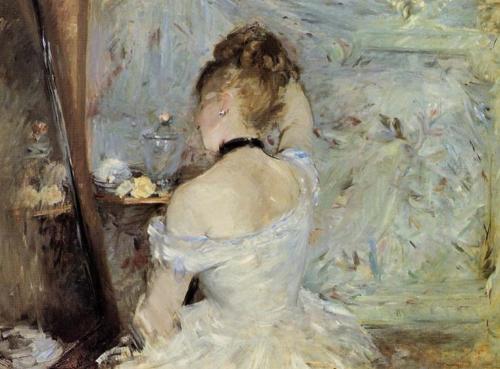 Berthe Morisot, Jonge vrouw voor de spiegel, 1880