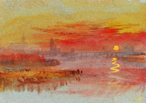 Joseph Mallord William Turner - The Scarlet Sunset c_1830-40
