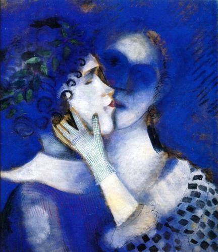 Marc Chagall, Blauwe geliefden, 1914