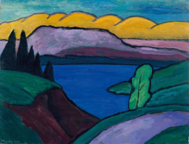 gabriele-munter-the-blue-see_1954