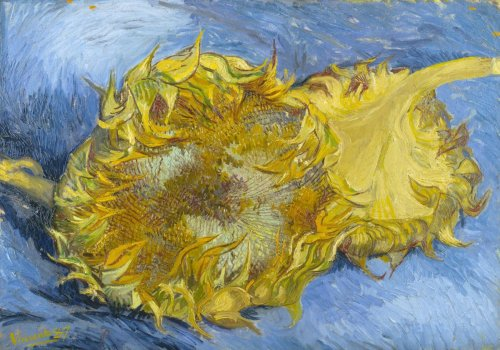 'Two Cut Sunflowers' Vincent van Gogh