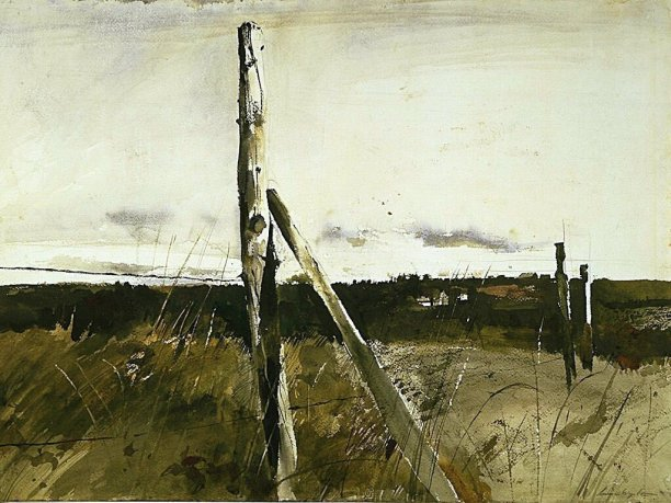 Wyeth_landschap_hekwerk