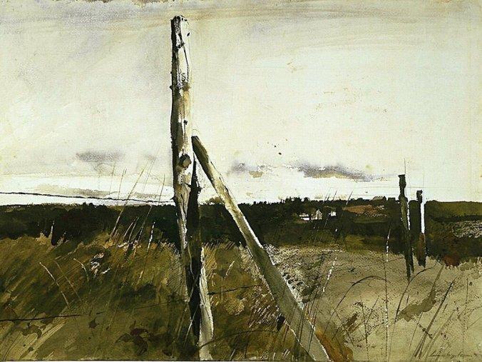 Wyeth_landschap_hekwerk